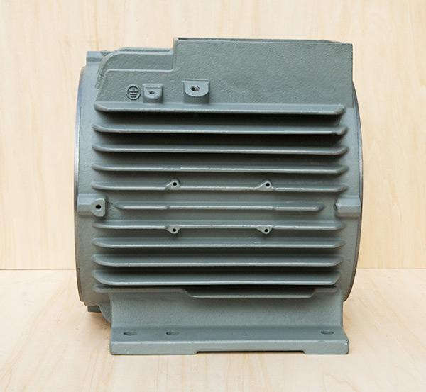 铸铁电机壳高能效电机132顶机机座外壳